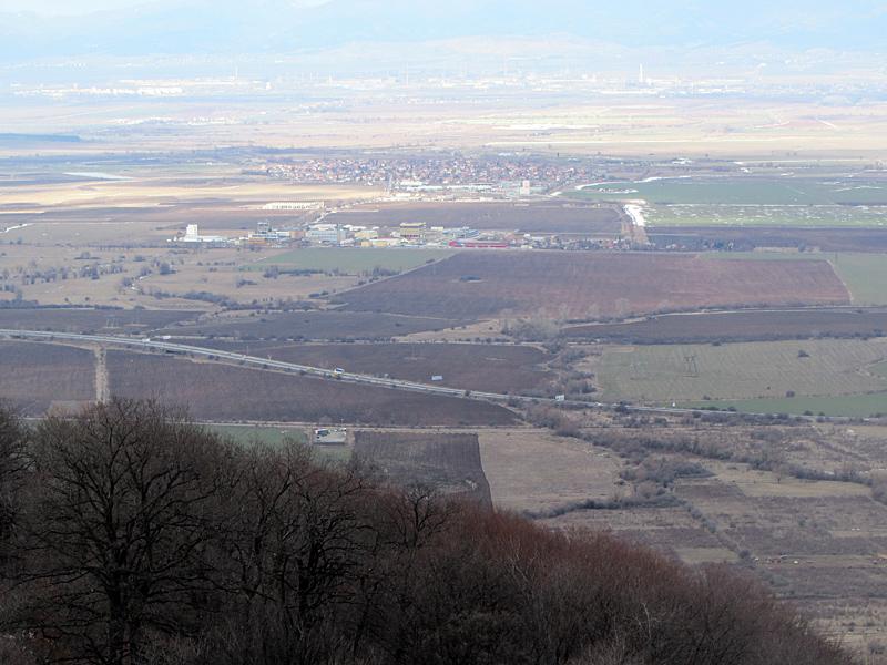 Панорамна гледка към Софийското равно поле