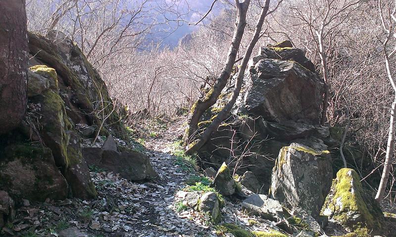 Крепост Урвич - козята пътека за връщане
