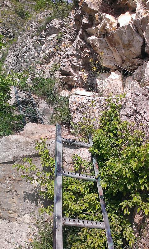 Пътечката към Манастира - още от интересната част