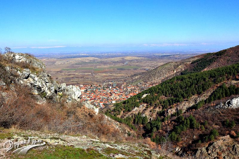 Село Устина, погледнато отгоре