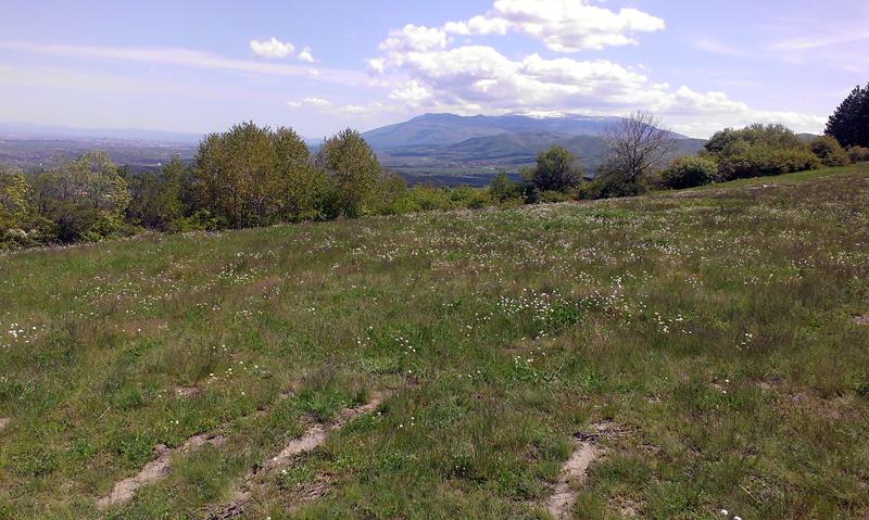 Клисурски манастир - изглед към Витоша