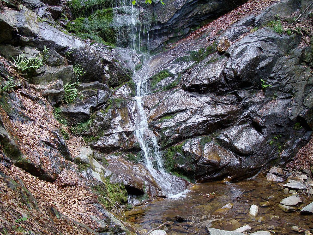Водопад Скаловитец - езерцето под първия пад