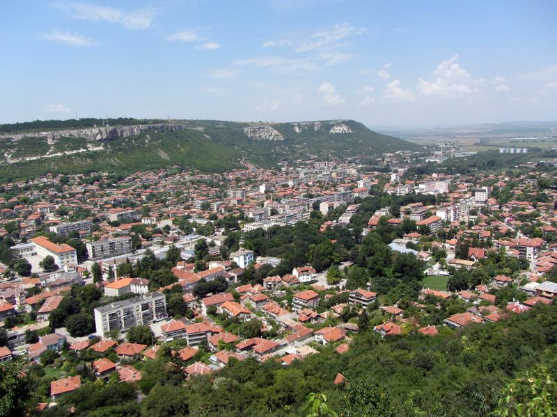 Крепостта Овеч - панорамен поглед към Провадия