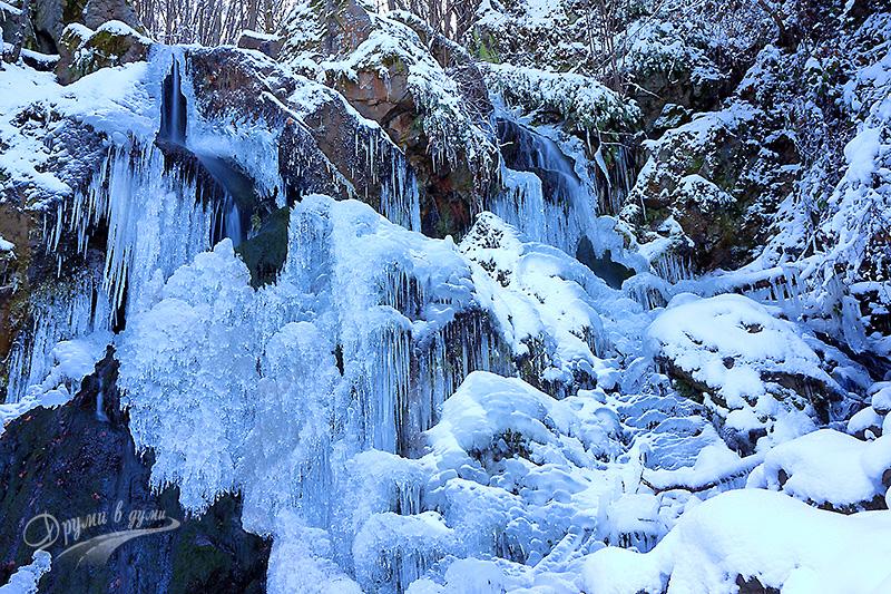 Алекови водопади - долната част на каскадата