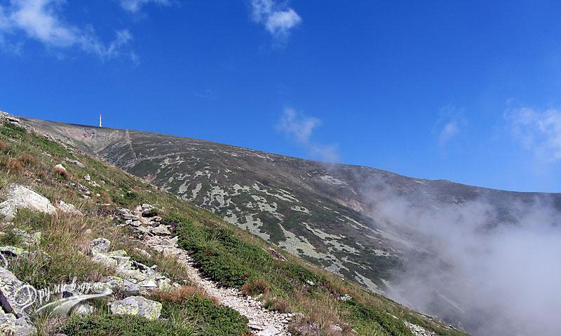 Изглед към връх Ботев след Тарзановата пътека