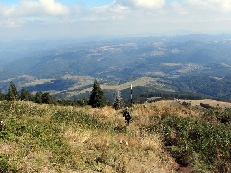 На Витоша: гледка от база Академик