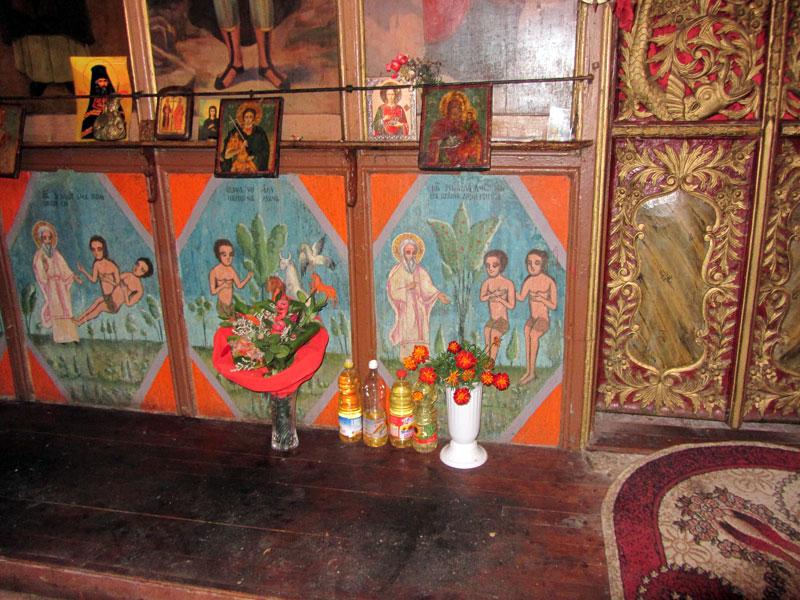 Църквата св. Димитър в село Мирково - сцени от Стария завет