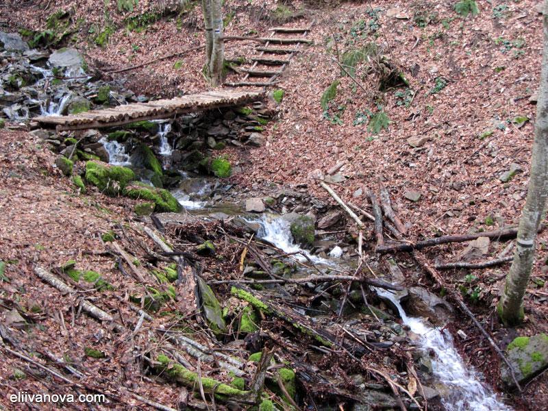 Пътеката към водопад Лешнишки - мостче