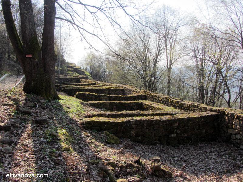 Крепост Боженишки урвич - останки от сградите