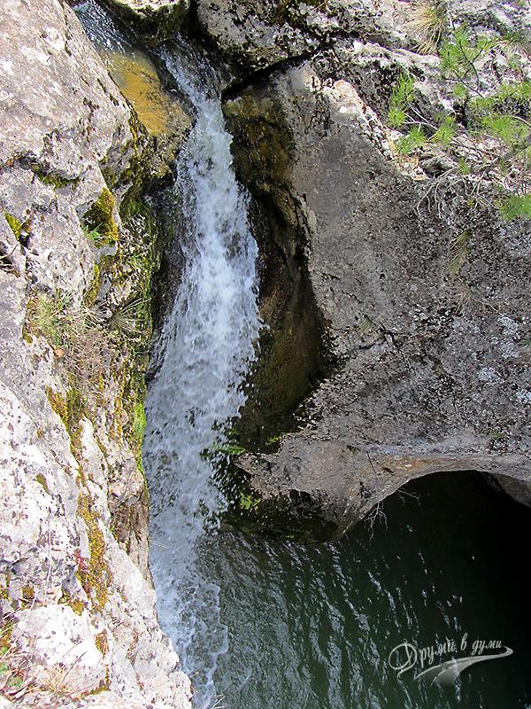 Водопад Котлите - горната част