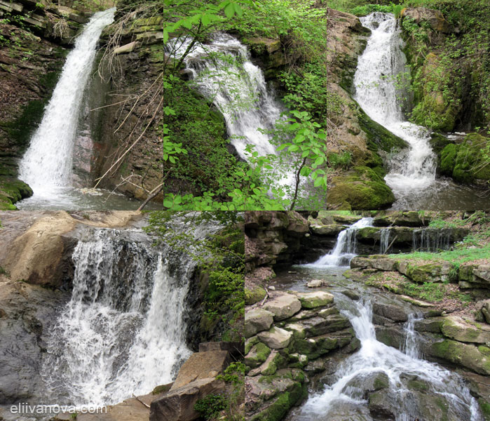 Красиви водопади по река Бовска