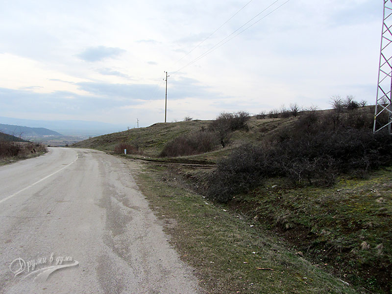 Начало на маршрута за изкачване на връх Мечи камък