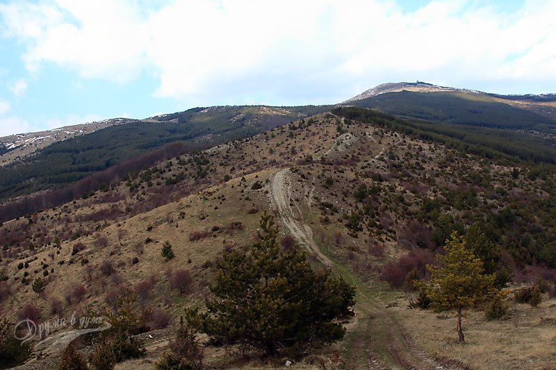 На билото - поглед напред към връх Баба