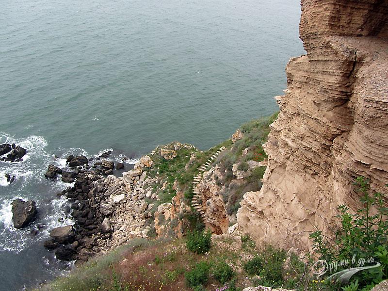 Нос Калиакра: стъпалата и високите скали