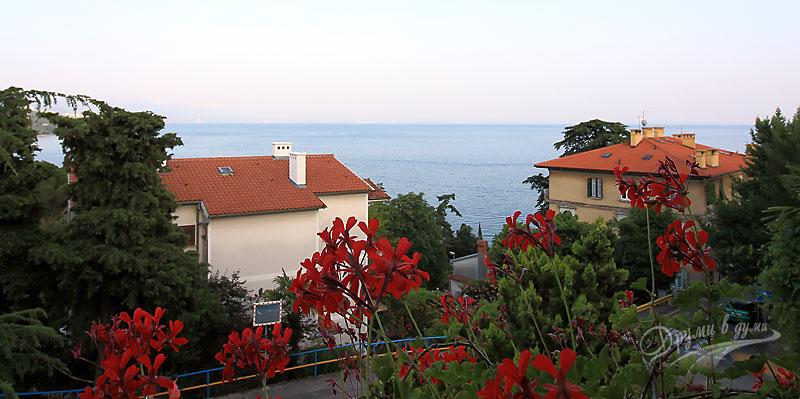 Стаята ни с изглед към морето, вила Мартина, Опатия, Хърватска