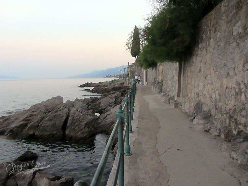 Walk on the promenade in Opatija