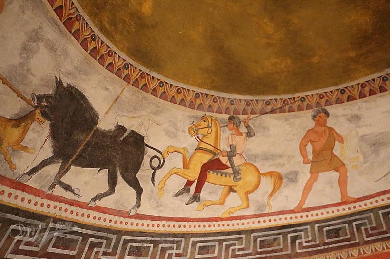 Александровска гробница: стенописите в музея