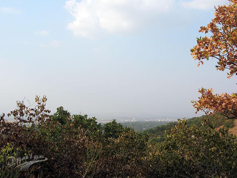 Мисионис: панорамна гледка към Търговище от базилика номер 1