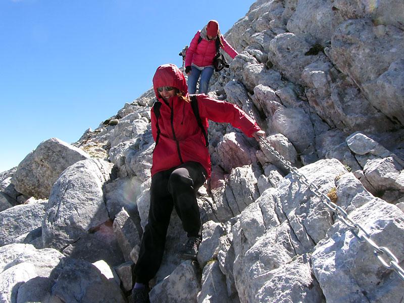 Спускането от северната страна на връх Вихрен
