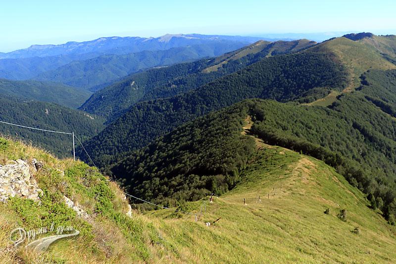 От връх Кавладан надолу
