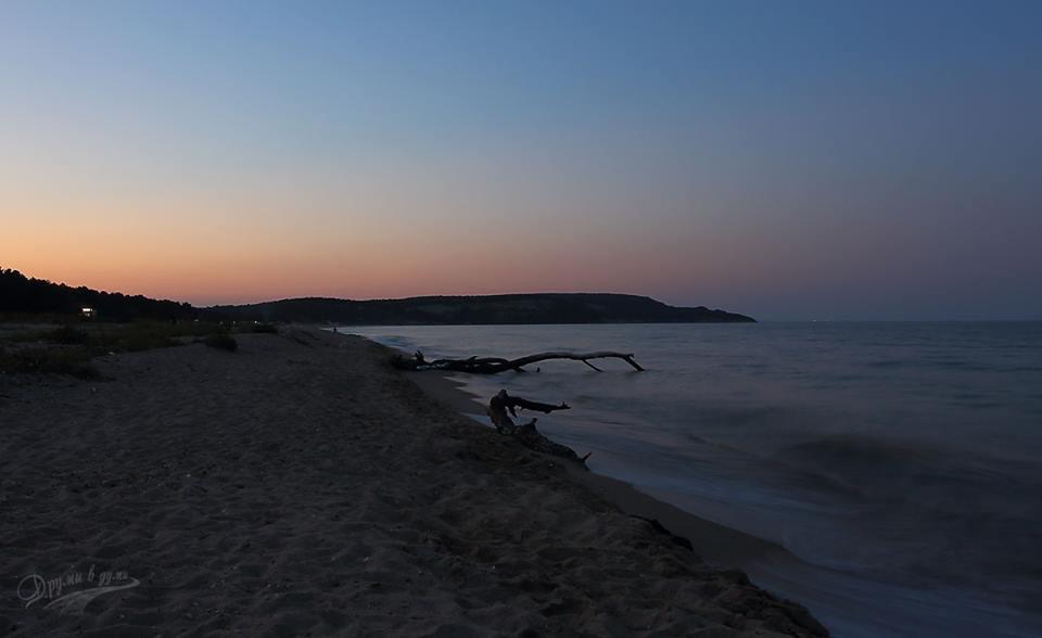 Плаж Камчия по залез