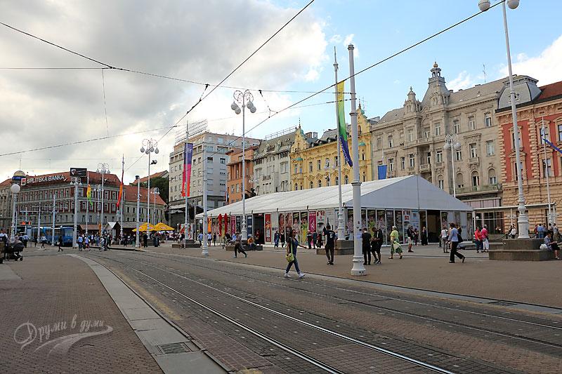 Загреб: централния площад Бан Йосип Йелачич