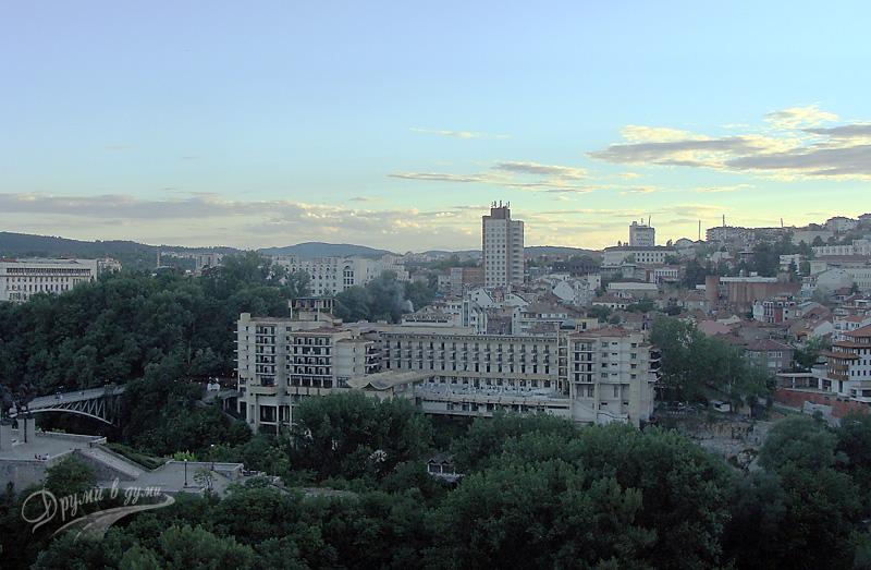 Велико Търново: гледка от една от площадките