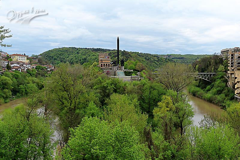 Велико Търново: един от меандрите на река Янтра