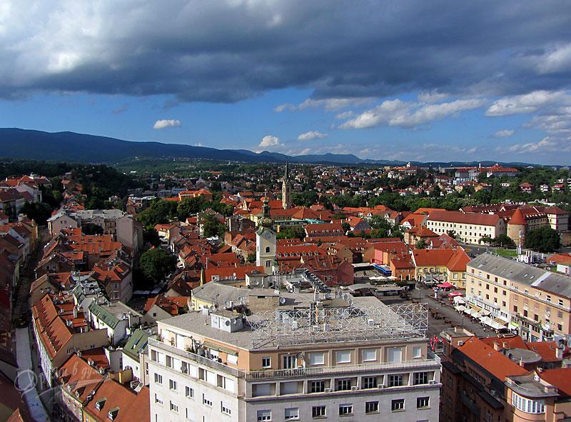 Загреб: Гледки от Кулата Лотршак