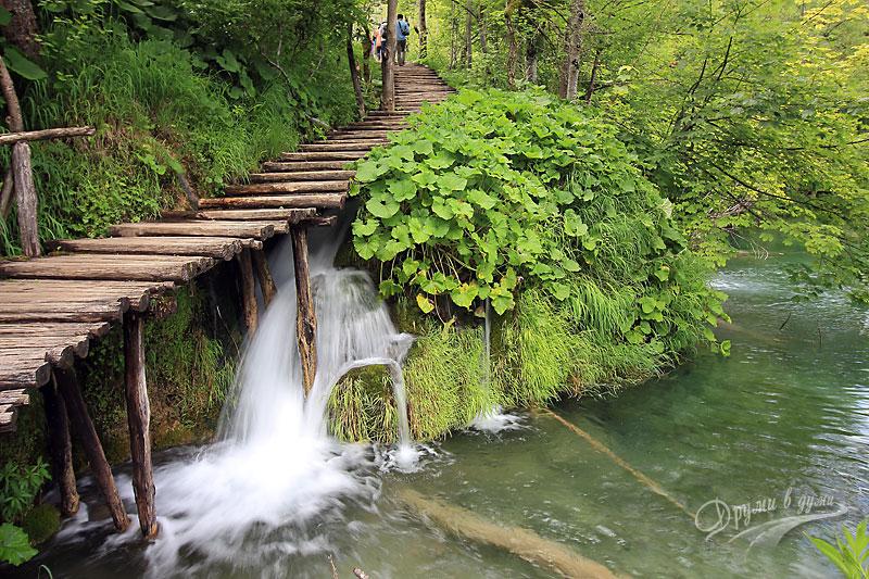 Плитвички езера: пътеки и мостчета