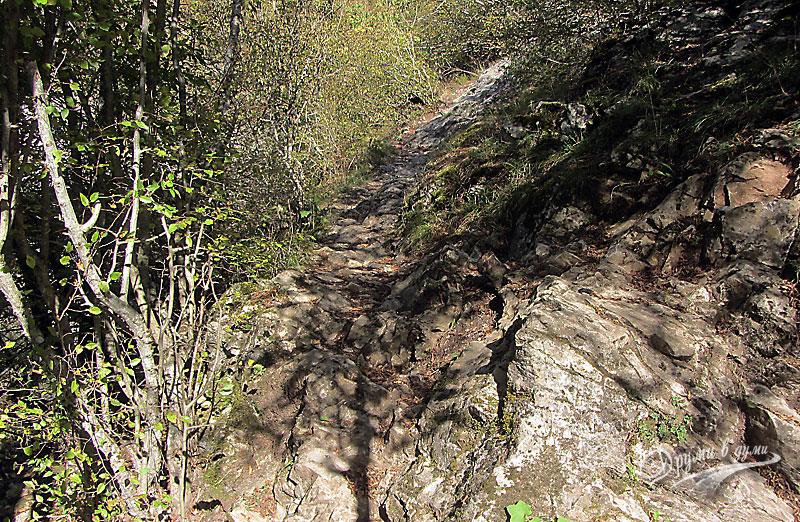 По пътеката към пещера Голубовица в Гарга дере
