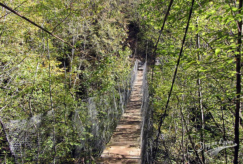 Гарга дере: Въженият мост над река Есенска в Родопите