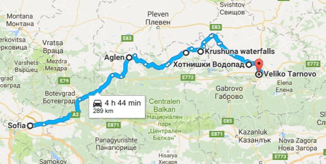 Карта на маршрута