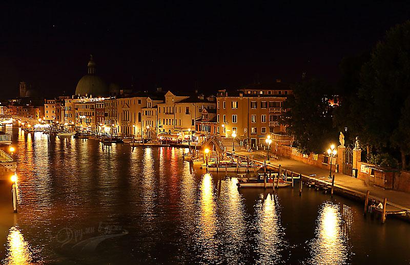 Канале Гранде в светлините на нощта