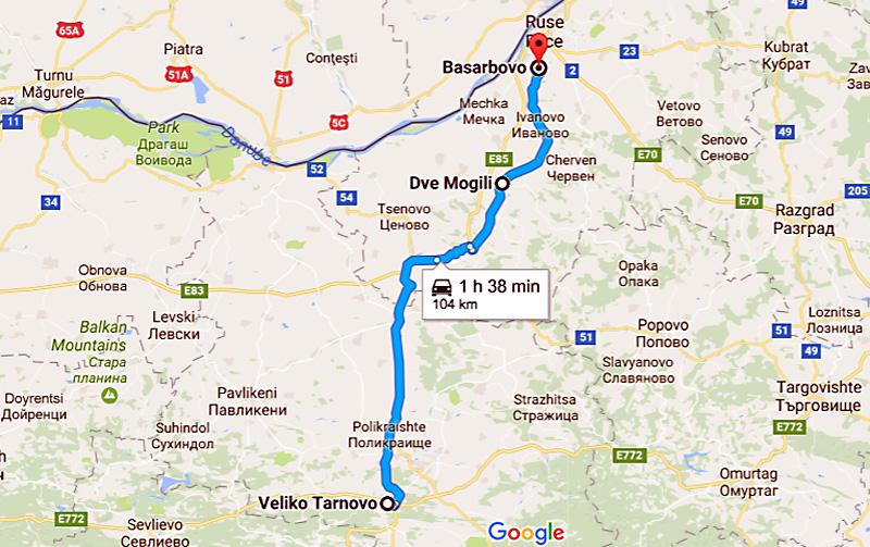 Басарбовски скален манастир: карта