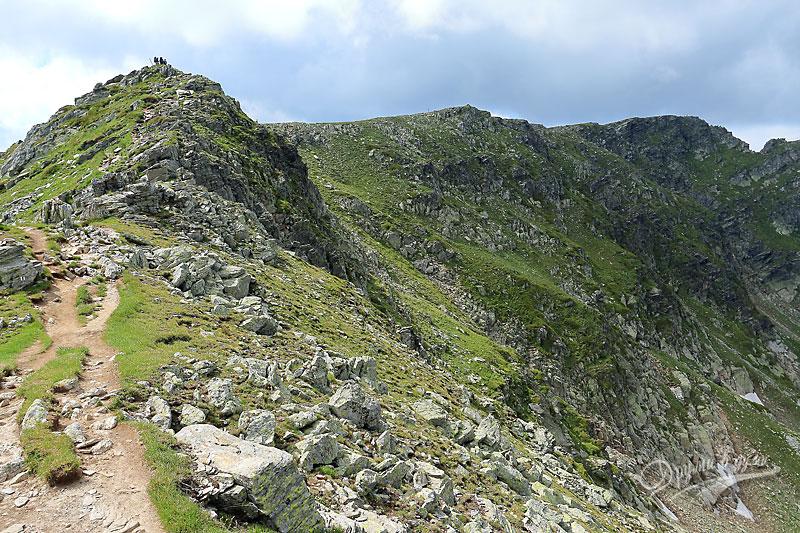 Към връх Мальовица: на билото