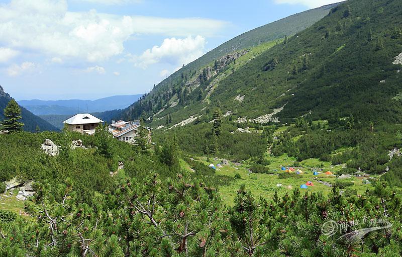 По пътеката над хижа Мальовица: поглед назад