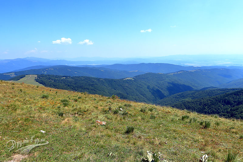 Връх Мургаш: поглед към старопланинското било на изток
