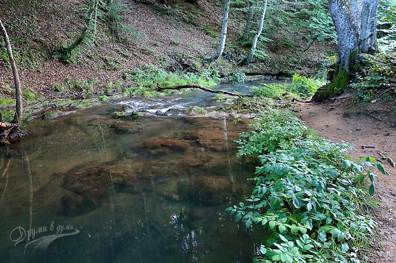 Река Докузак точно преди водопада