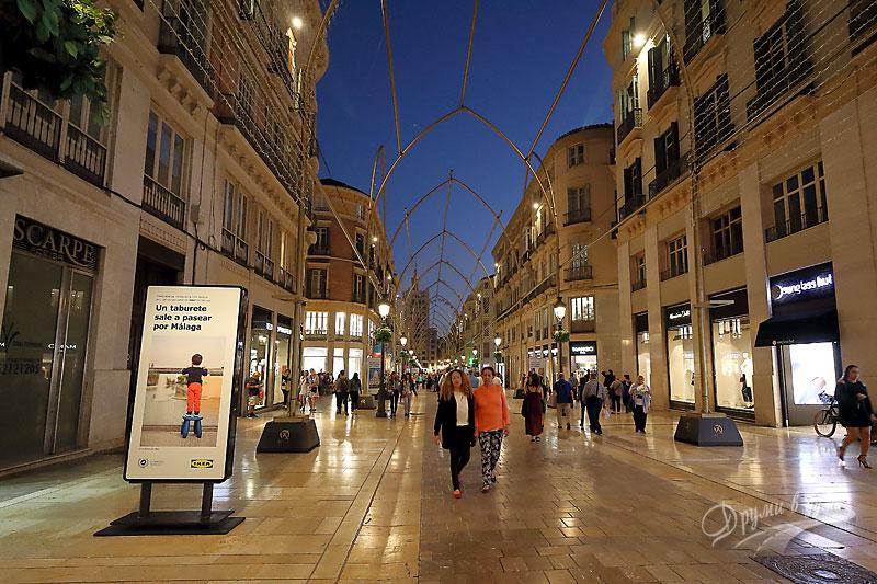 Малага: централната търговска улица