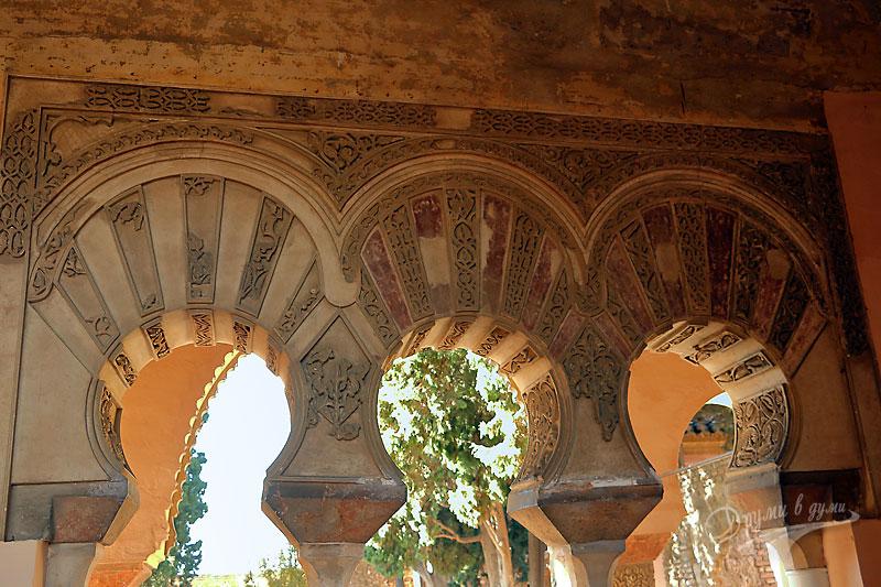 Малага: замъкът Алказаба - фрагмент