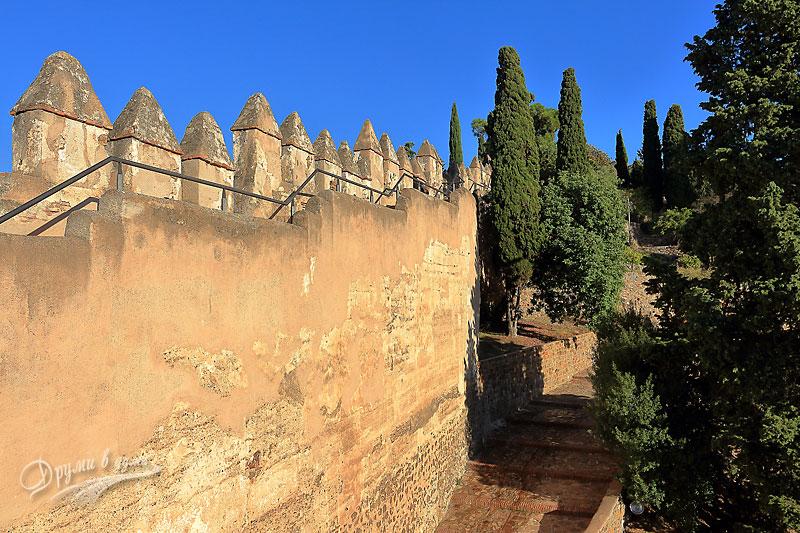 Малага: замъкът Гибралфаро