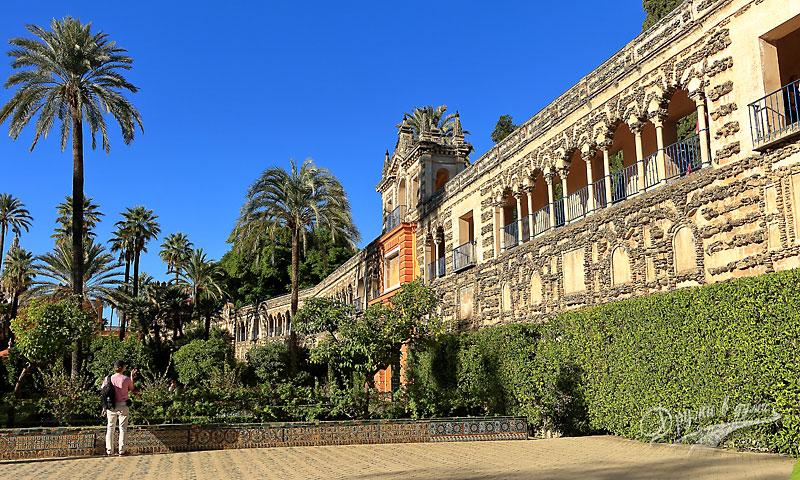 Дворецът Алказар: градините