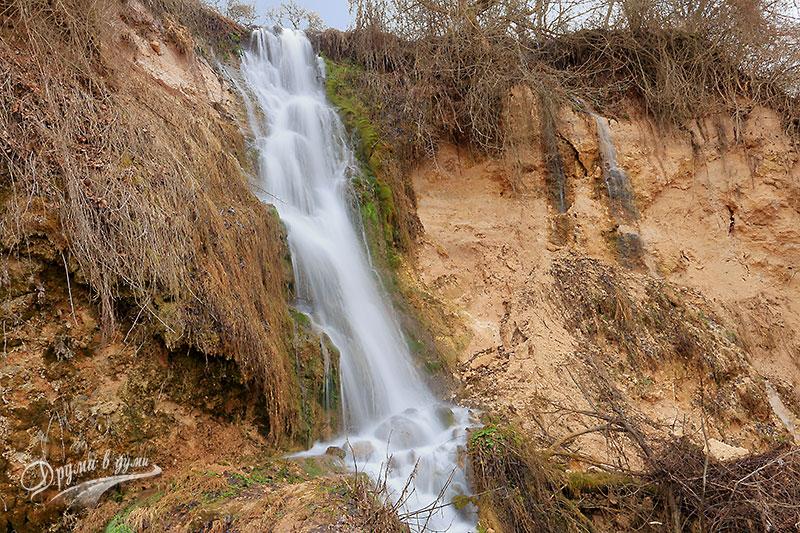 Средната част на водопада