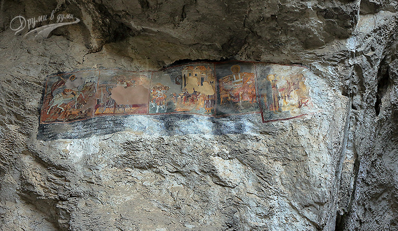 Стенописите и скалният надпис в Голямата пещера