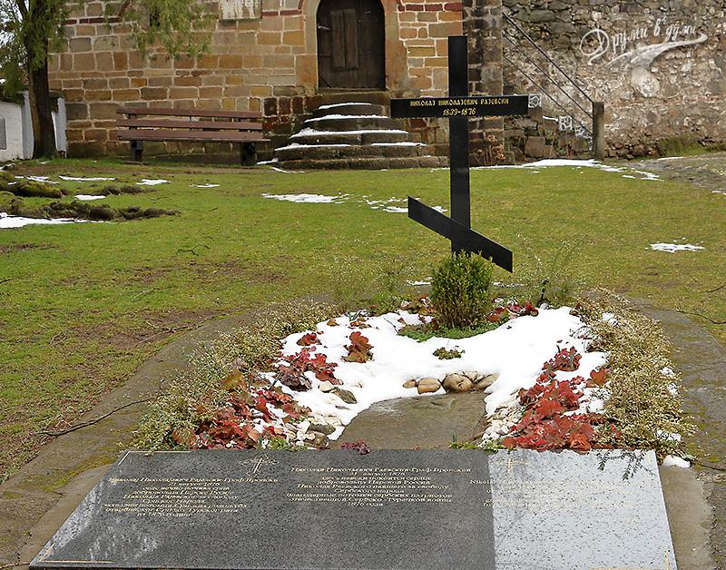 Гробът на Раевски, прототип на граф Вронски