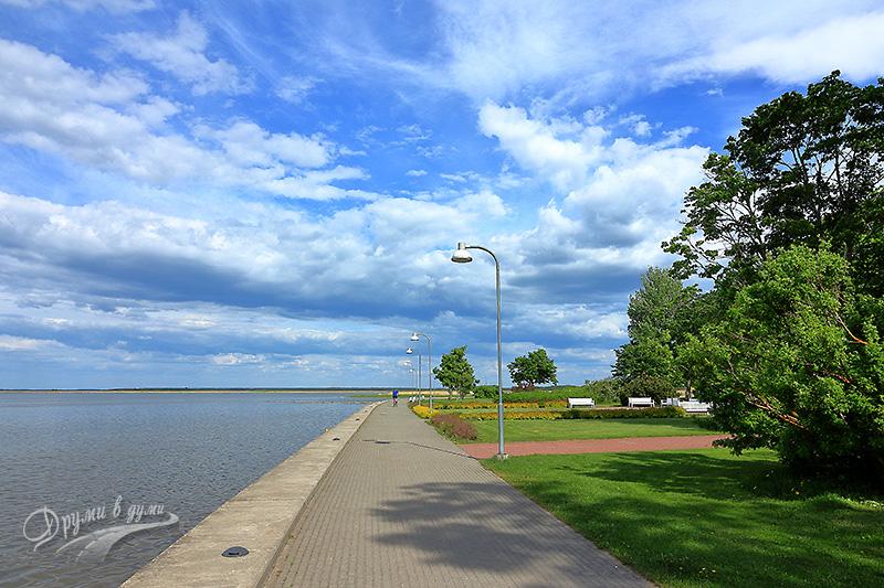 Хаапсалу: крайбрежната алея