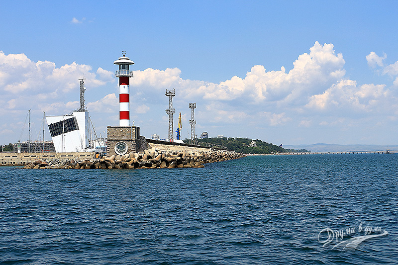 Port Burgas and the lighthouse