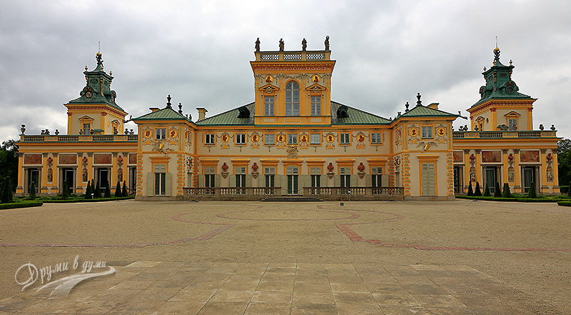 Wilanow palace: the rear facade