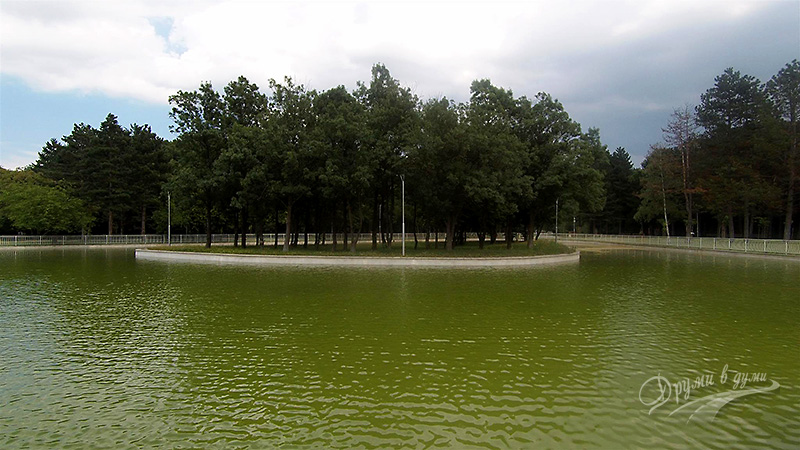 Кадър на Северния парк в София с екшън камерата
